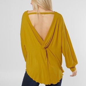 Free people open back long sleeve